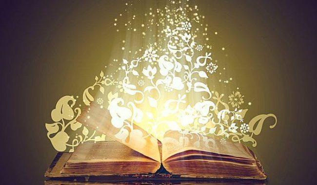 Libro volando letras