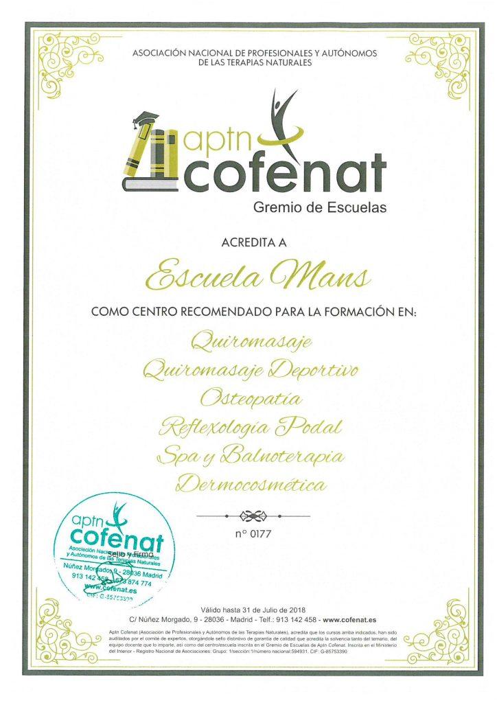 Certificado Cofenat