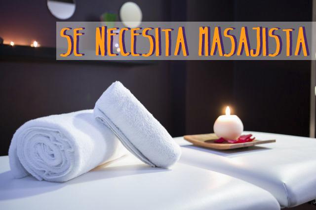 oferta trabajo masajista