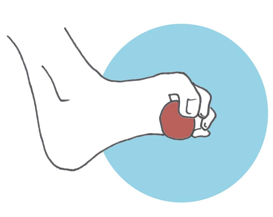 Fortalecer los pies agarrar